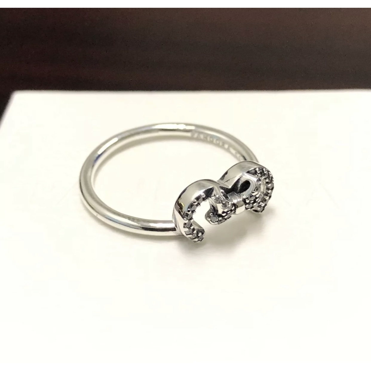 Disney's Pandora Minnie Mouse Silhouette Ring ~ – Depop Throughout Most Recent Disney Minnie Silhouette Rings (View 5 of 25)