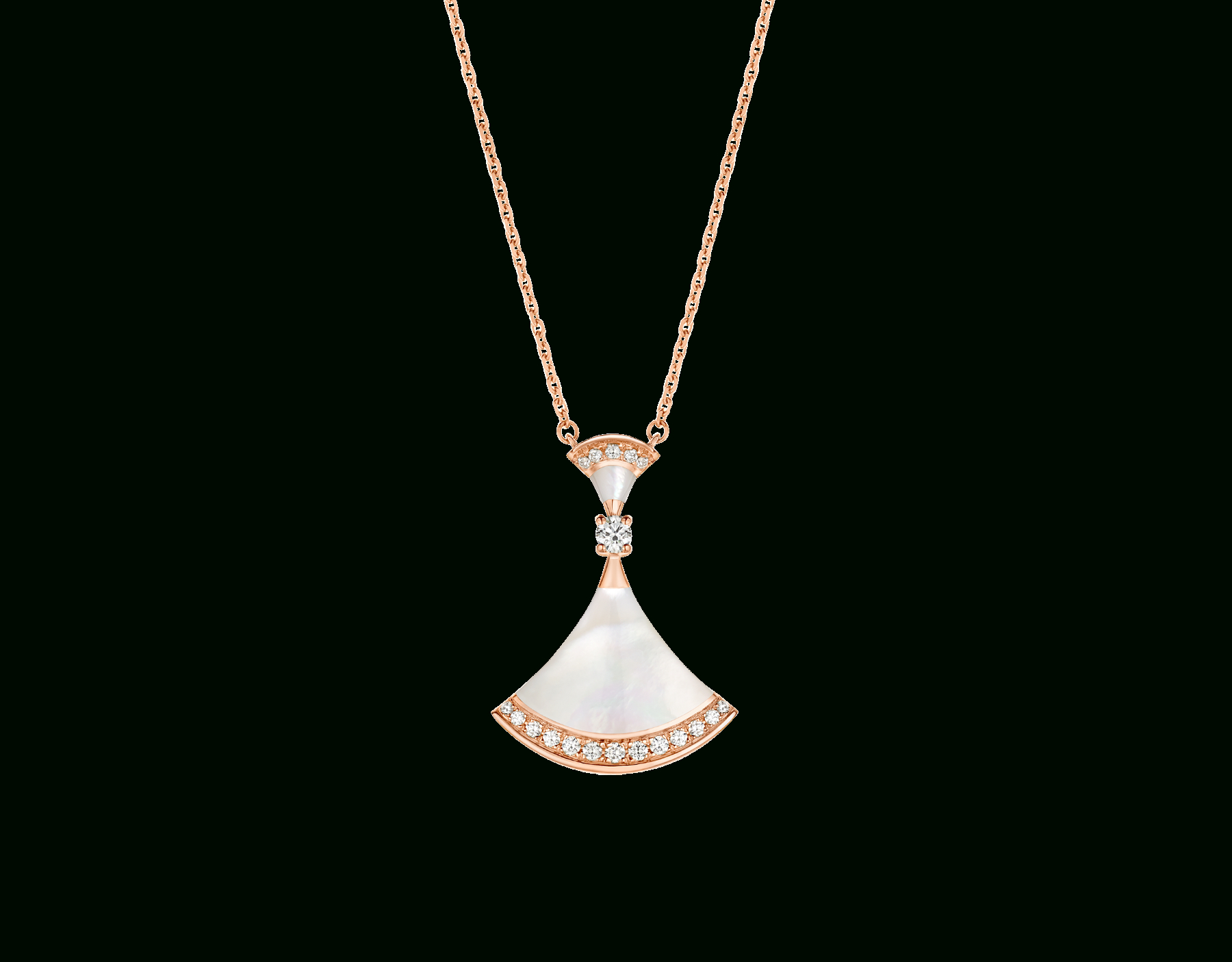 Divas' Dream Necklace 356452 | Bvlgari Pertaining To Most Up To Date Pavé Locket Element Necklaces (View 3 of 25)