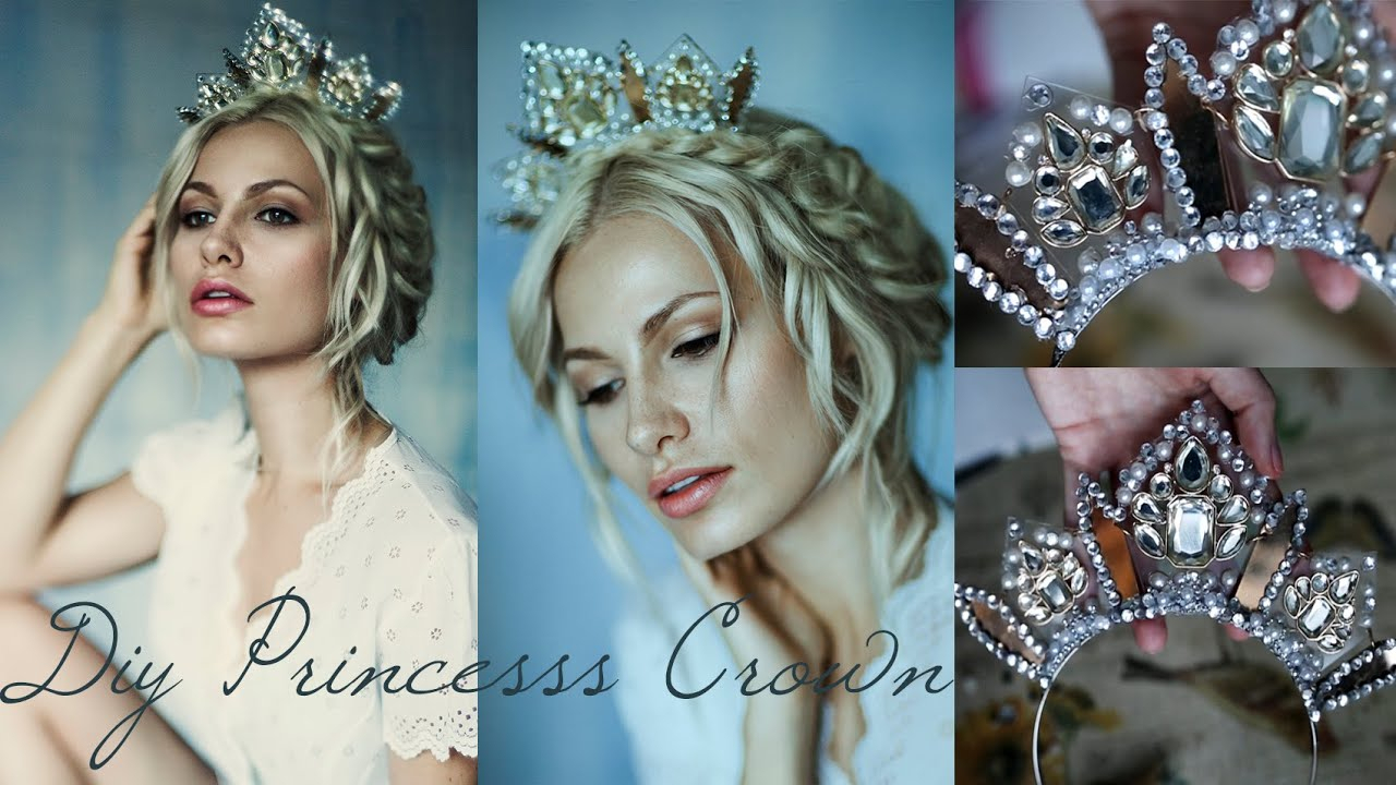 Diy Princess Crown Using A Necklace Inside Recent Tiara Crown Collier Necklaces (View 12 of 25)