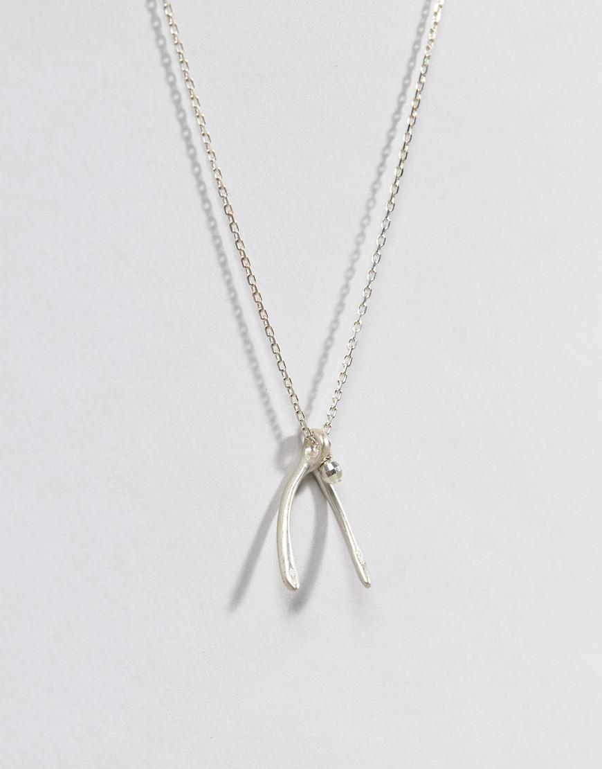 Dogeared Sterling Silver Wish! Large Wishbone Pendant With Sparkle Inside 2019 Sparkling Wishbone Necklaces (View 17 of 25)