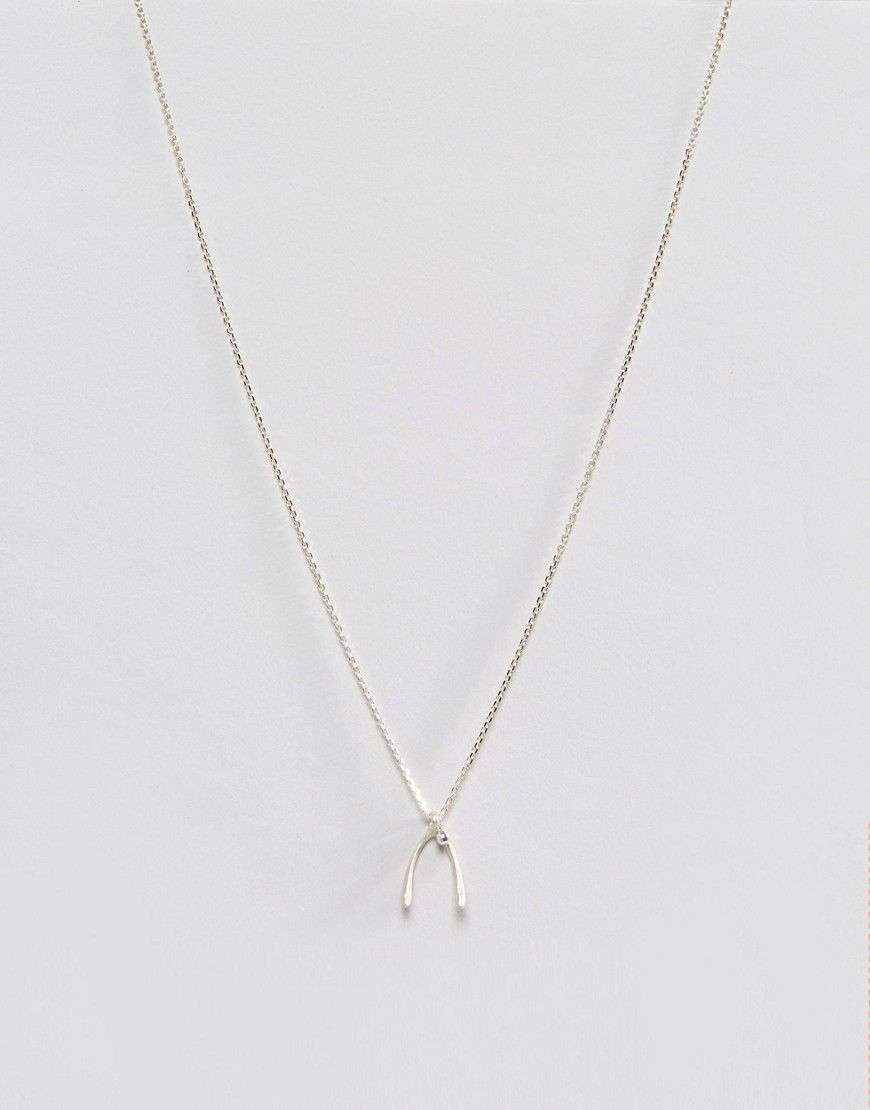 Dogeared Sterling Silver Wish! Large Wishbone Pendant With Sparkle Within Most Recently Released Sparkling Wishbone Necklaces (View 3 of 25)