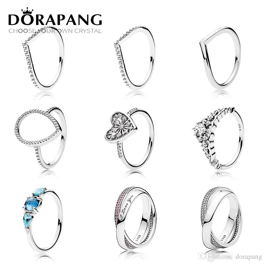 Dorapang 925 Sterling Silver Heart Of Winter Ring Clear Cz Fairytale Tiara Patterns Of Frost Moonlight Blue & Sky Blue Crystal Within Most Recent Fairytale Tiara Rings (View 18 of 25)
