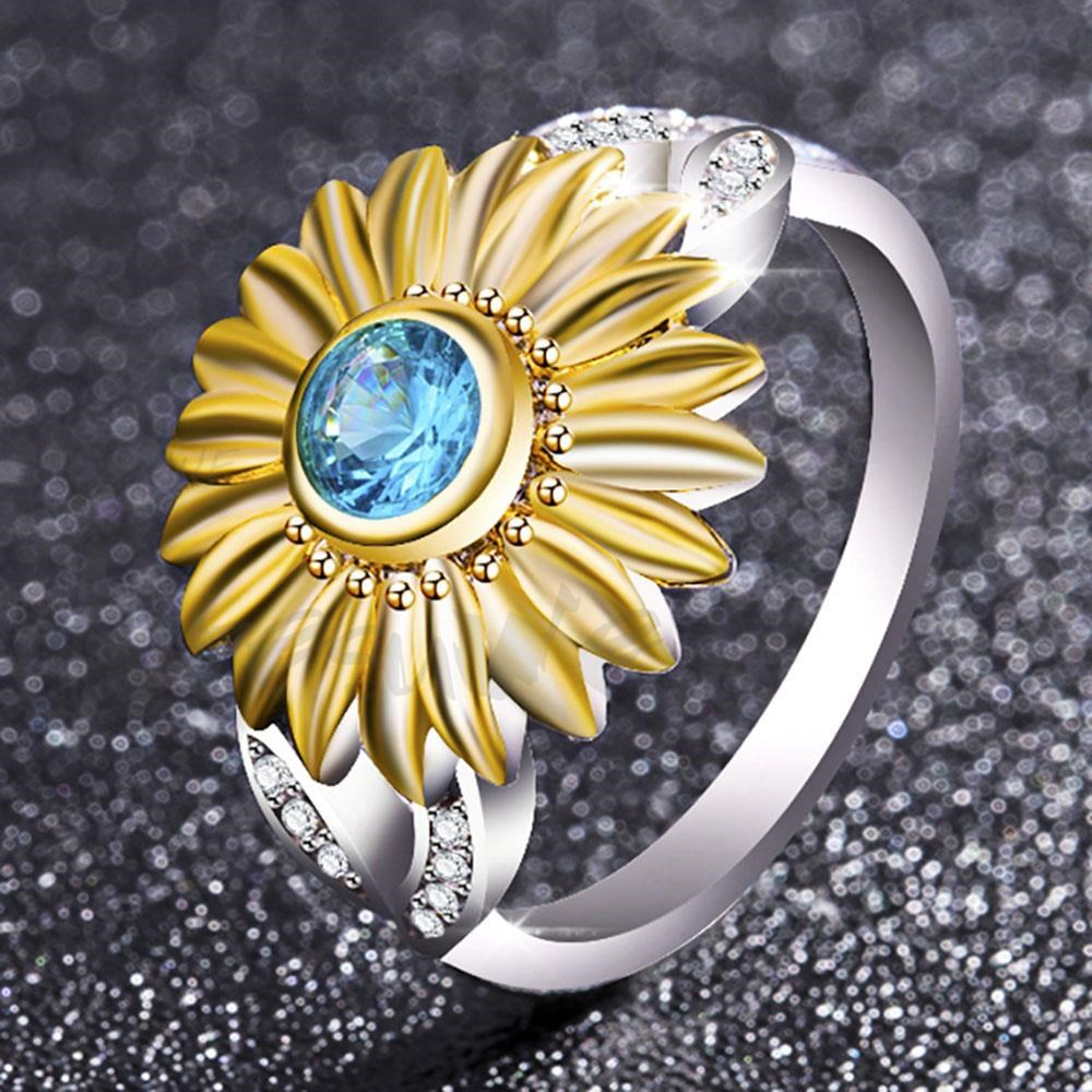 Doresuwe Cute Flower Pattern Rings Diamonds Sparkling Women's With Regard To Most Current Sparkling Pattern Rings (View 11 of 25)