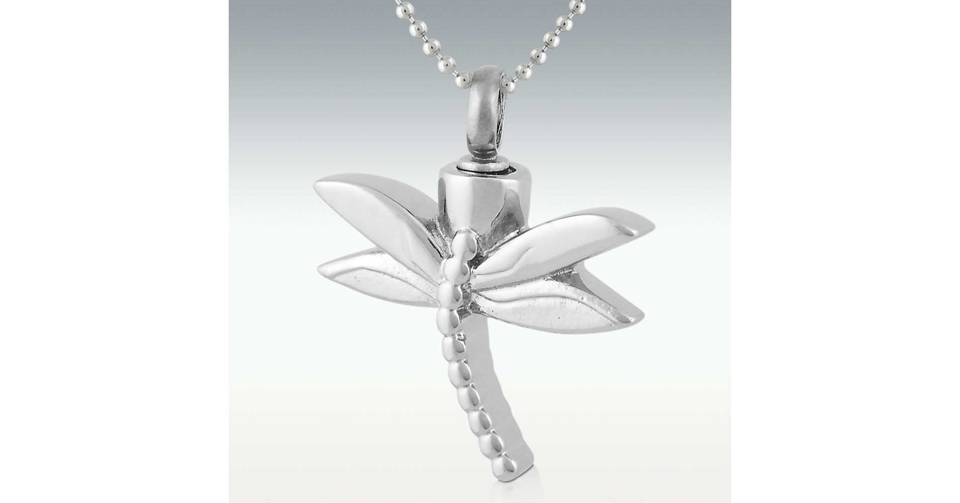 Dragonfly Stainless Steel Cremation Jewelry – Engravable (Pm12213) Intended For 2020 Sparkling Dragonfly Y  Necklaces (View 13 of 25)