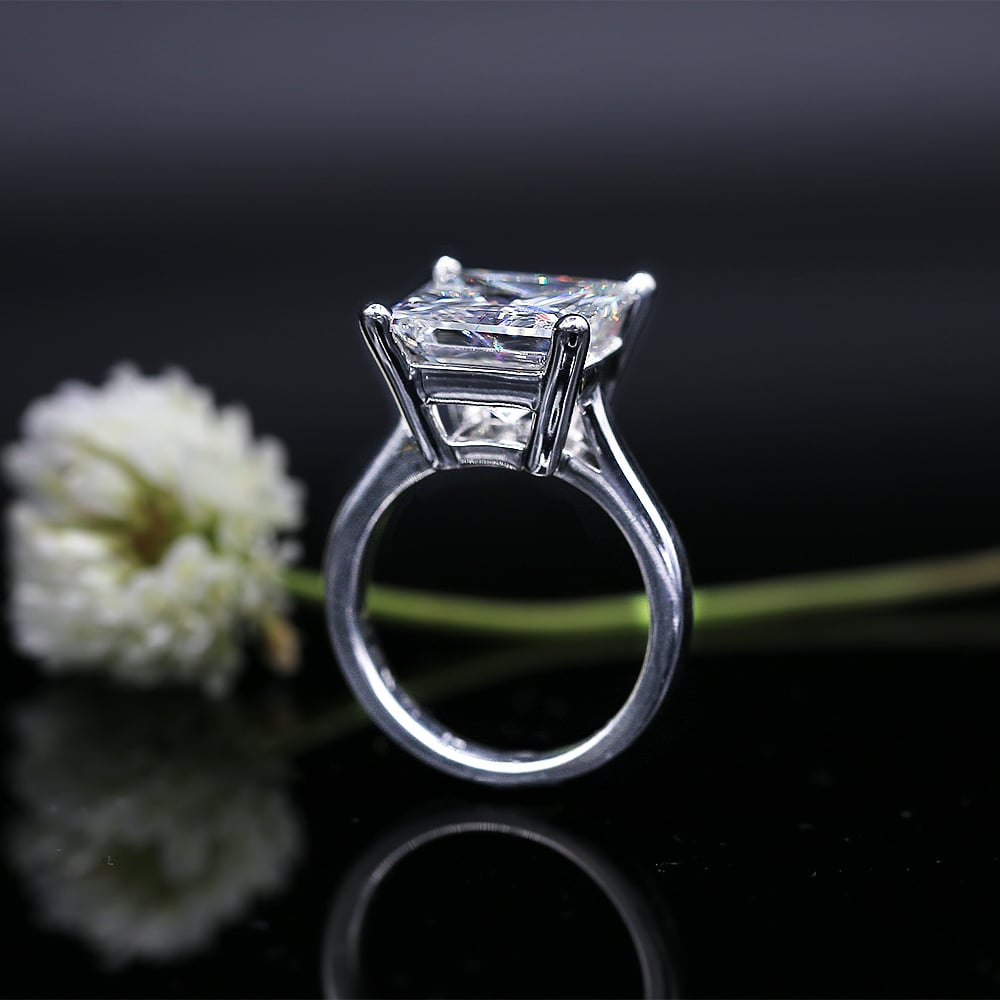Dream 7.03Ct Princess Cut Diamond Set In 14K White Gold Engagement Ring  104231 Throughout Newest Certified Princess Cut Diamond Anniversary Bands In White Gold (Gallery 13 of 25)