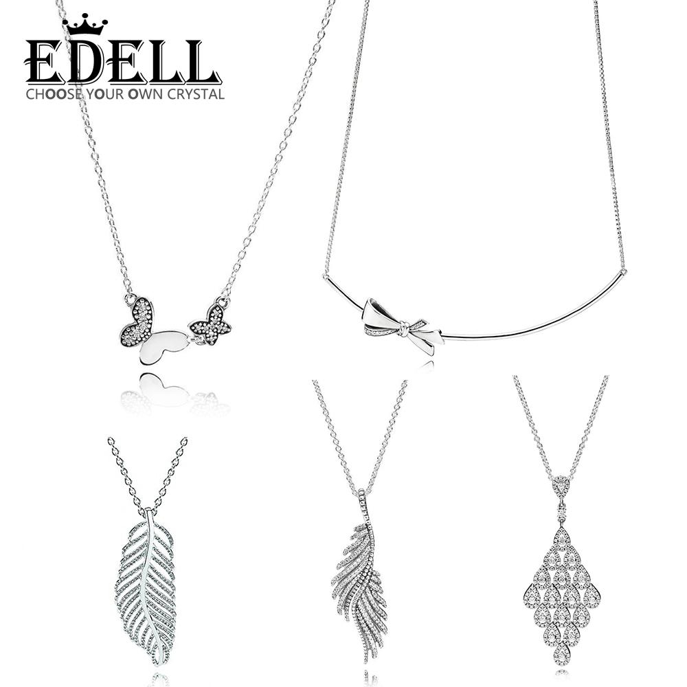 Edell 100% 925 Sterling Silver Genuine Brilliant Bow Kette Shimmering  Phoenix Feather Cascading Glamour Necklace Damen Halskette Intended For 2020 Shimmering Feather Pendant Necklaces (View 5 of 25)