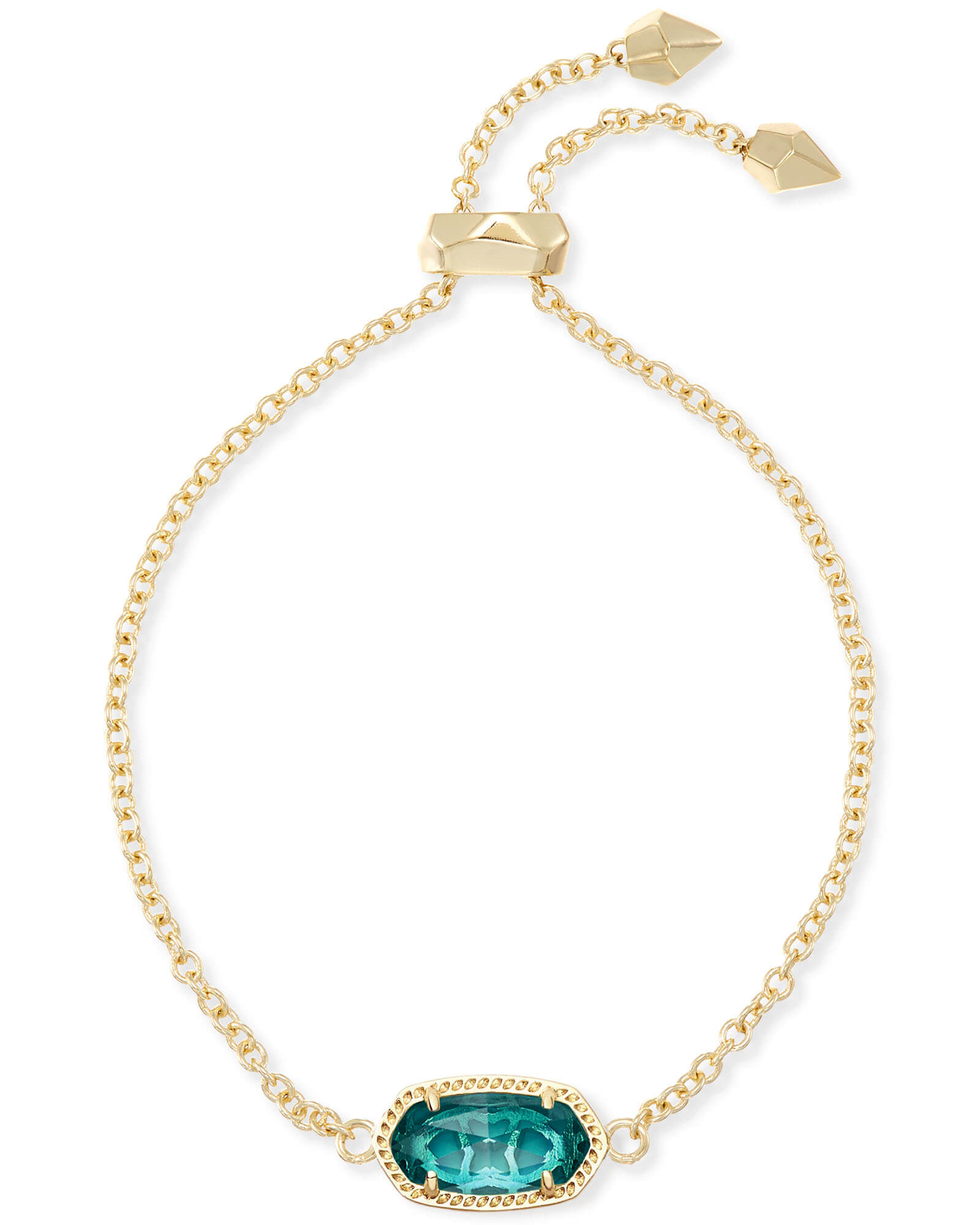Elaina Gold Adjustable Bracelet In Blue | Kendra Scott With Regard To Current London Blue Crystal December Droplet Pendant Necklaces (View 11 of 25)