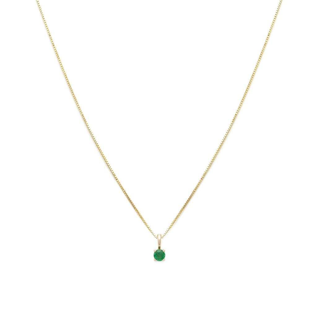 Element Birthstone Necklace – May – Emerald – Leah Alexandra In 2020 Royal Green May Birthstone Locket Element Necklaces (Gallery 1 of 25)