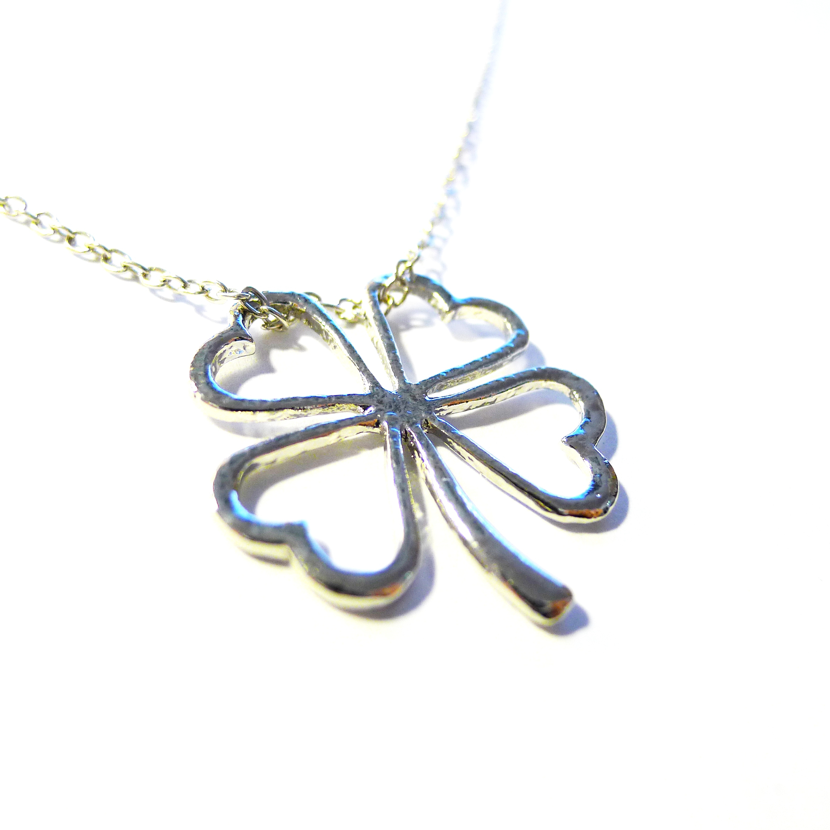 Elements: Lucky Four Leaf Clover Necklace From Bravelyfestyle Within 2020 Lucky Four Leaf Clover Locket Element Necklaces (Gallery 1 of 25)
