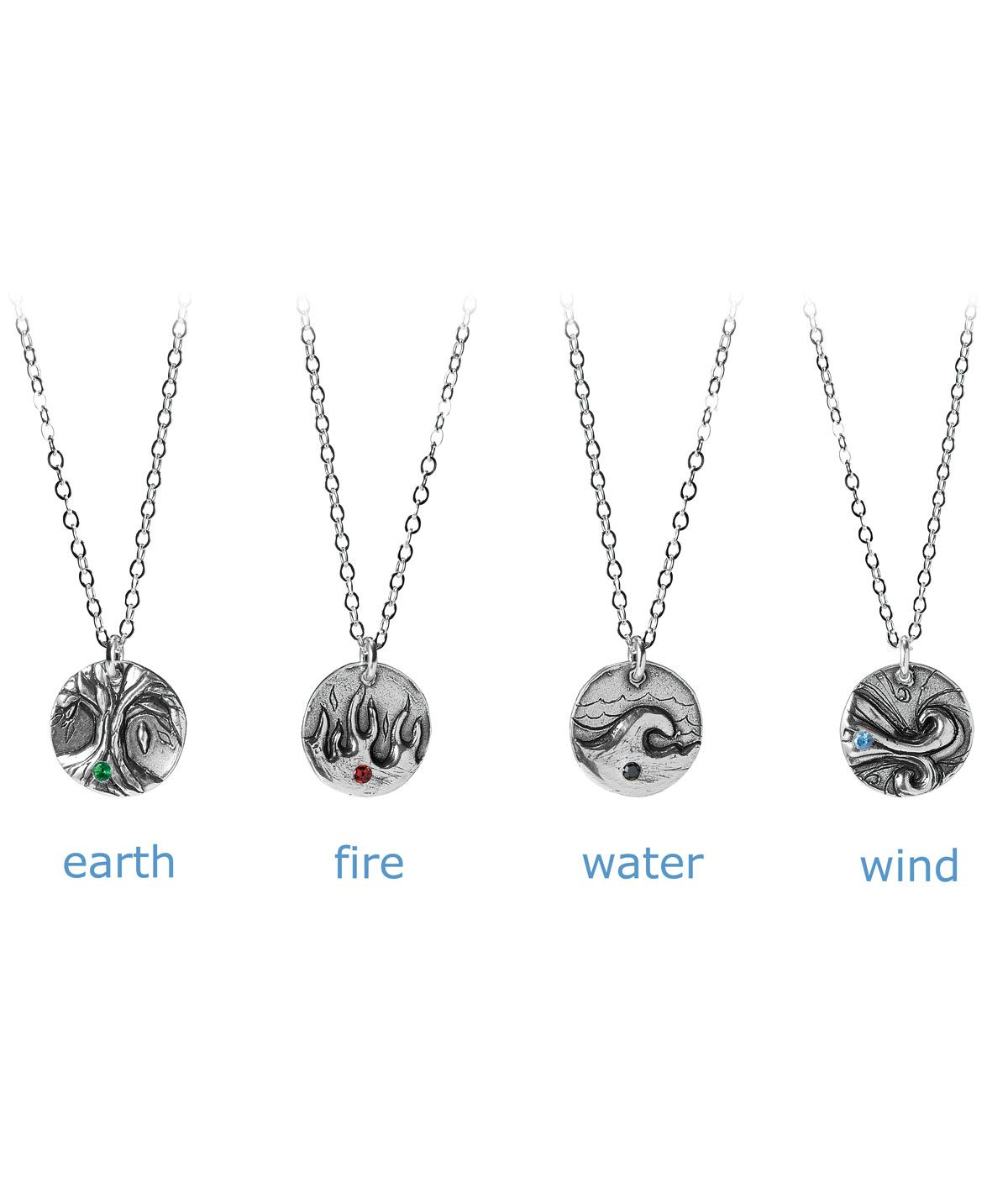 Elements Necklace | Four Element, Earth, Wind, Water And Fire Throughout Most Recently Released Classic Flower Locket Element Necklaces (Gallery 5 of 25)