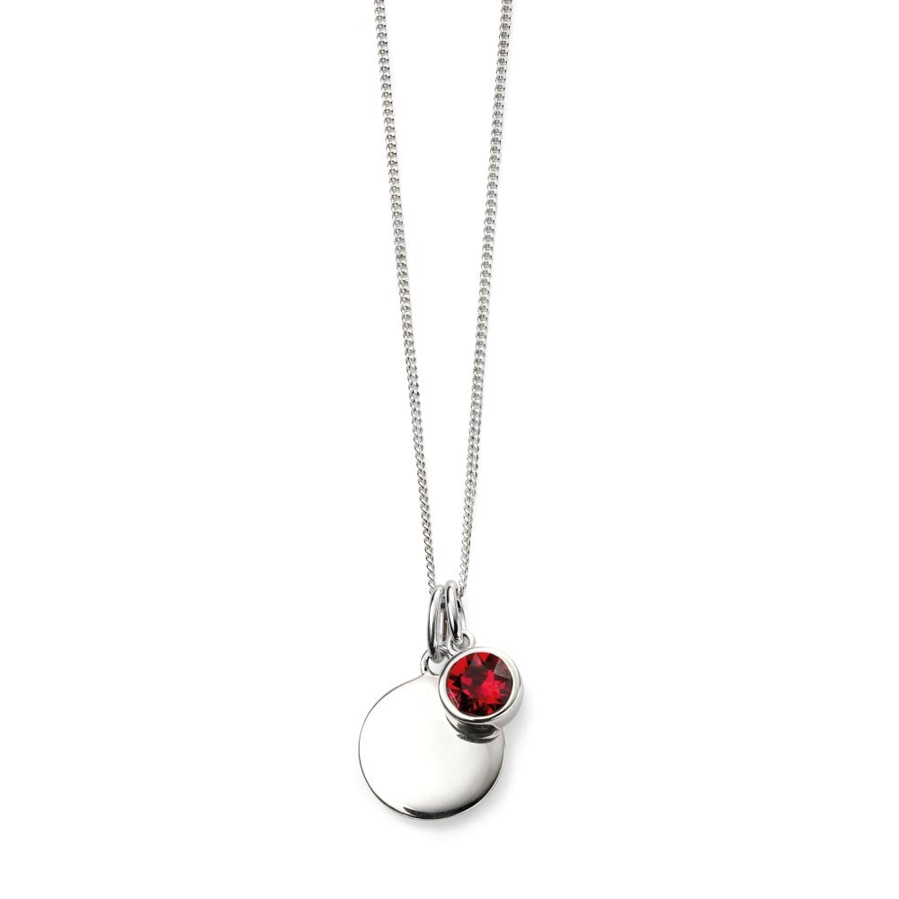 Elements Silver Silver July Birthstone Swarovski Crystal Pendant And Chain In 2020 Red July Birthstone Locket Element Necklaces (View 8 of 25)