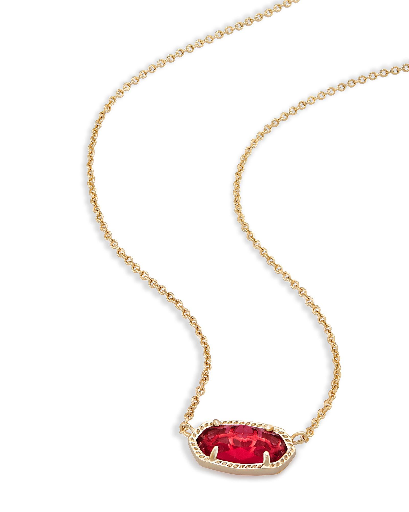 Elisa Brass Pendant Necklace In Berry | Kendra Scott Inside Most Recently Released Multi Colored Crystal Patterns Of Frost Pendant Necklaces (View 11 of 25)