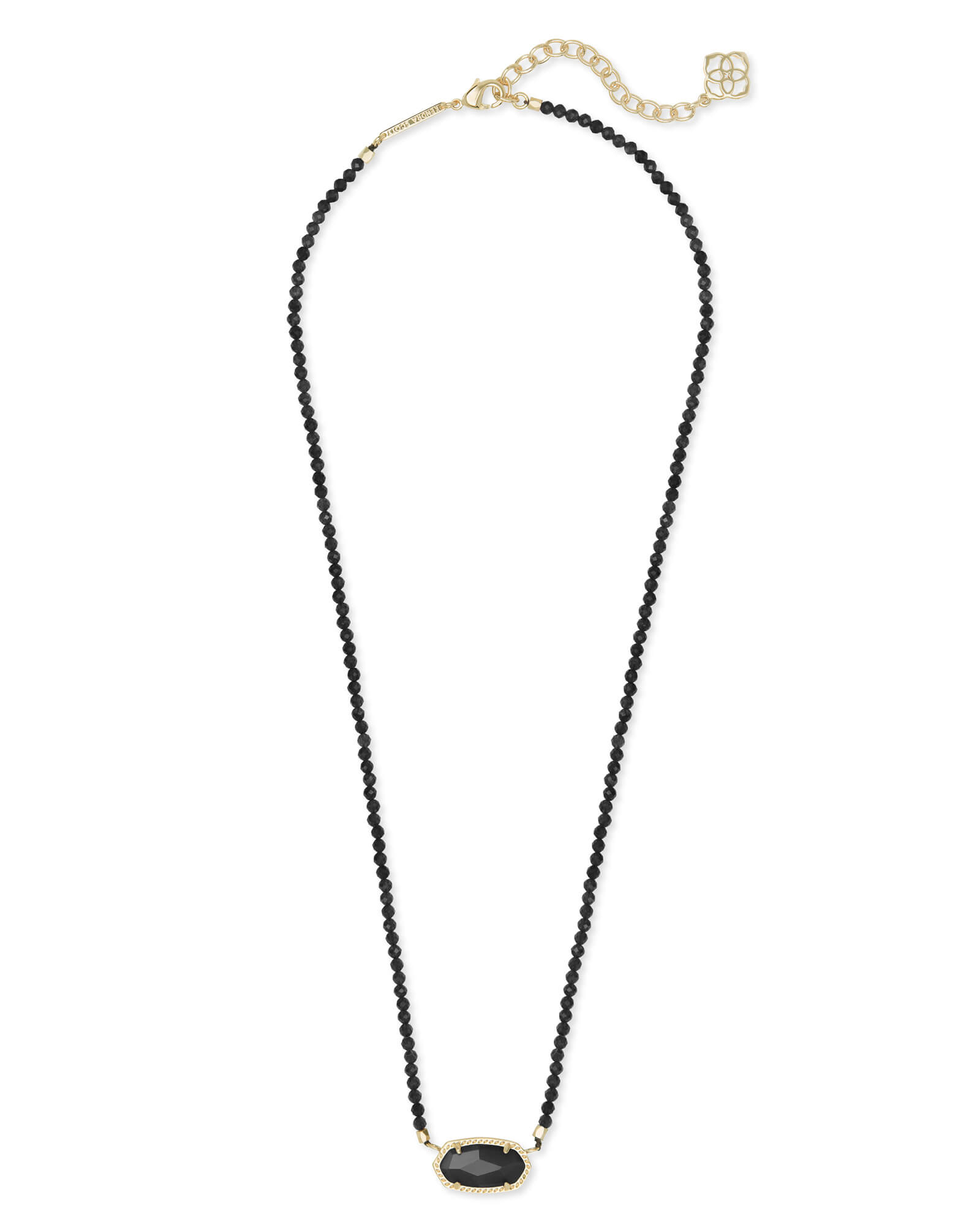 Elisa Gold Beaded Pendant Necklace | Kendra Scott Intended For Recent Beaded Chain Necklaces (View 13 of 25)