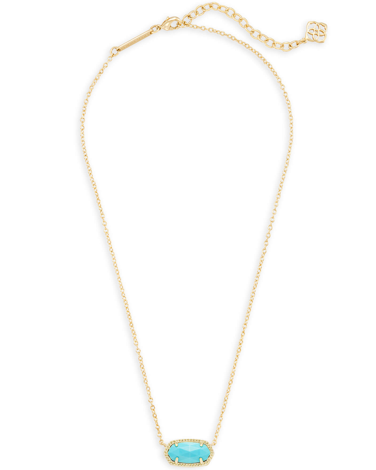 Elisa Gold Pendant Necklace In Blue Turquoise | Kendra Scott Inside 2019 London Blue Crystal December Droplet Pendant Necklaces (Gallery 10 of 25)