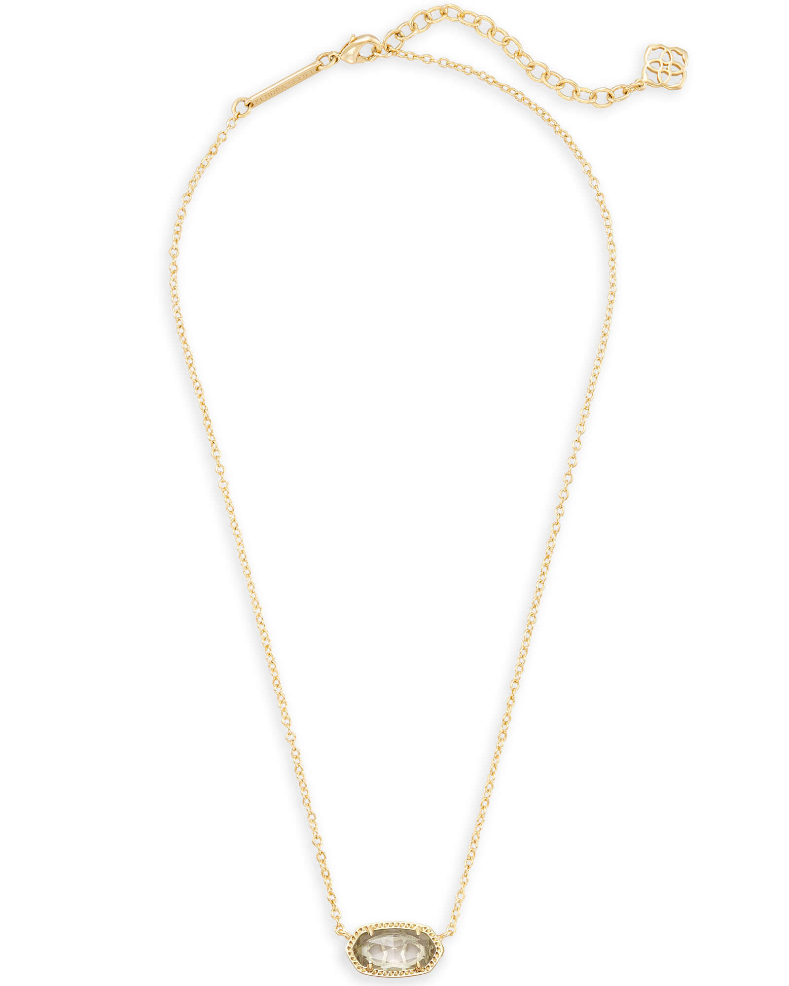 Elisa Gold Pendant Necklace In Clear | Kendra Scott In 2020 Rock Crystal April Droplet Pendant Necklaces (View 13 of 25)