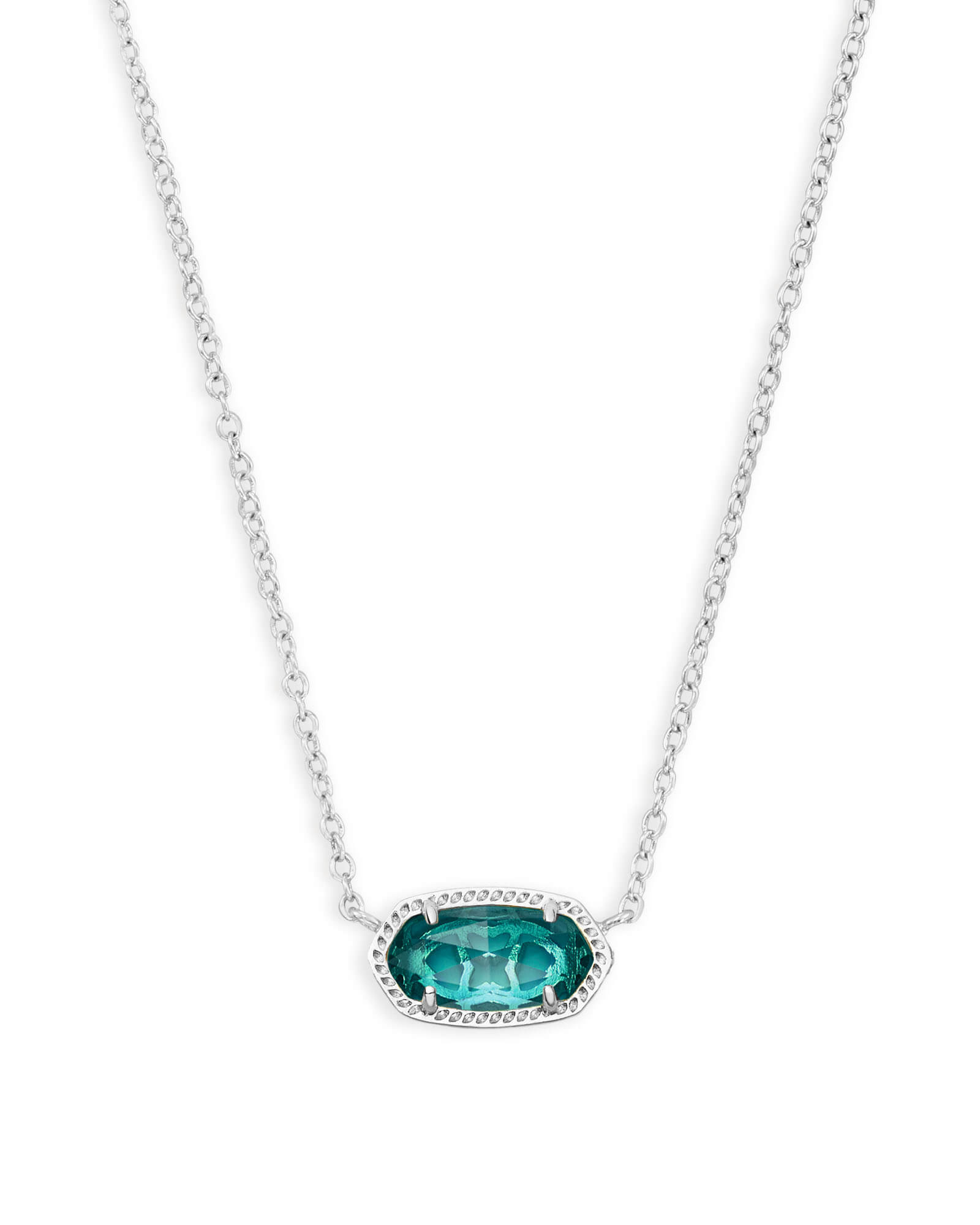 Elisa Silver Pendant Necklace In London Blue | Kendra Scott In Newest London Blue Crystal December Droplet Pendant Necklaces (View 7 of 25)