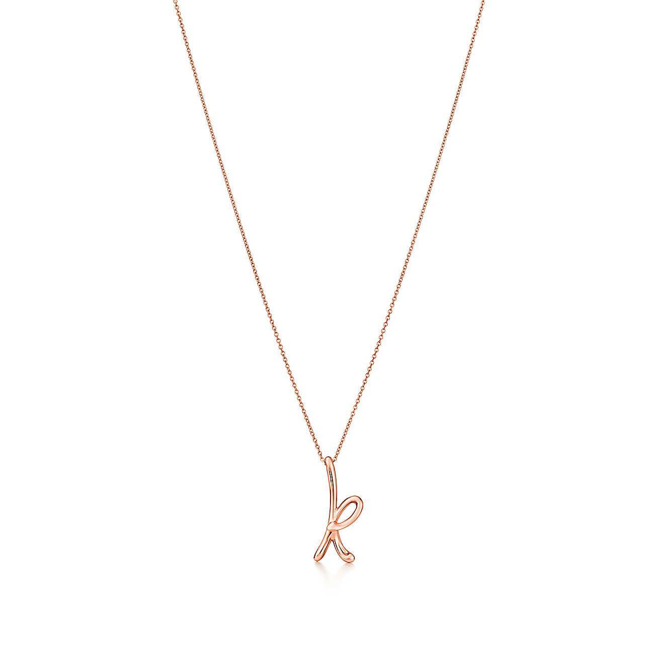 "Elsa Peretti®:letter ""k"" Pendant | Luxury Buys | Elsa Peretti Regarding Most Popular Letter K Alphabet Locket Element Necklaces (View 6 of 25)"