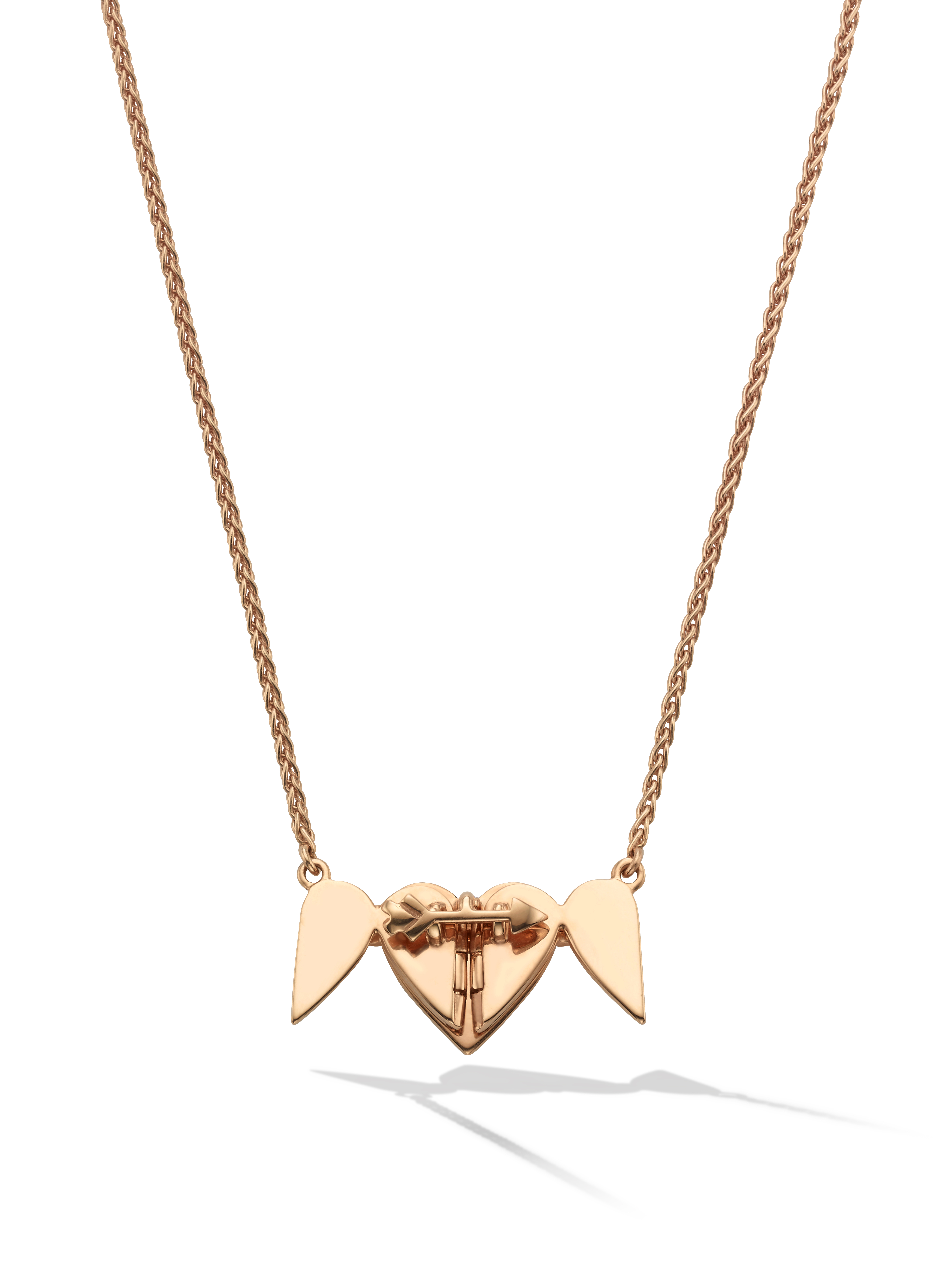 Endless Necklace In Rose Gold, 5 Hearts Inside Most Recent Asymmetrical Heart Necklaces (View 8 of 25)