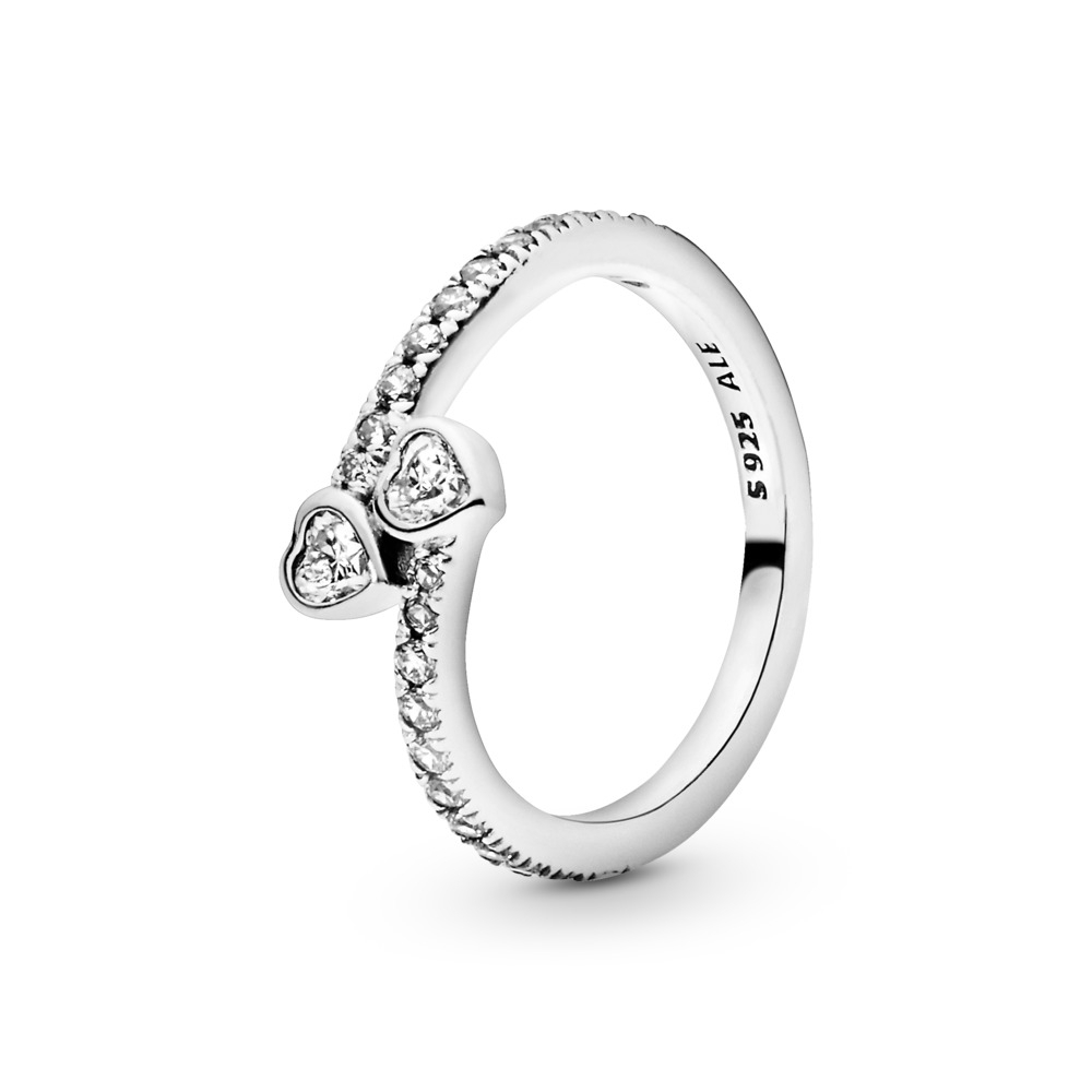 Engagement Jewelry | Gifts For Her Pertaining To Recent Beaded Two Hearts Open Rings (View 5 of 25)