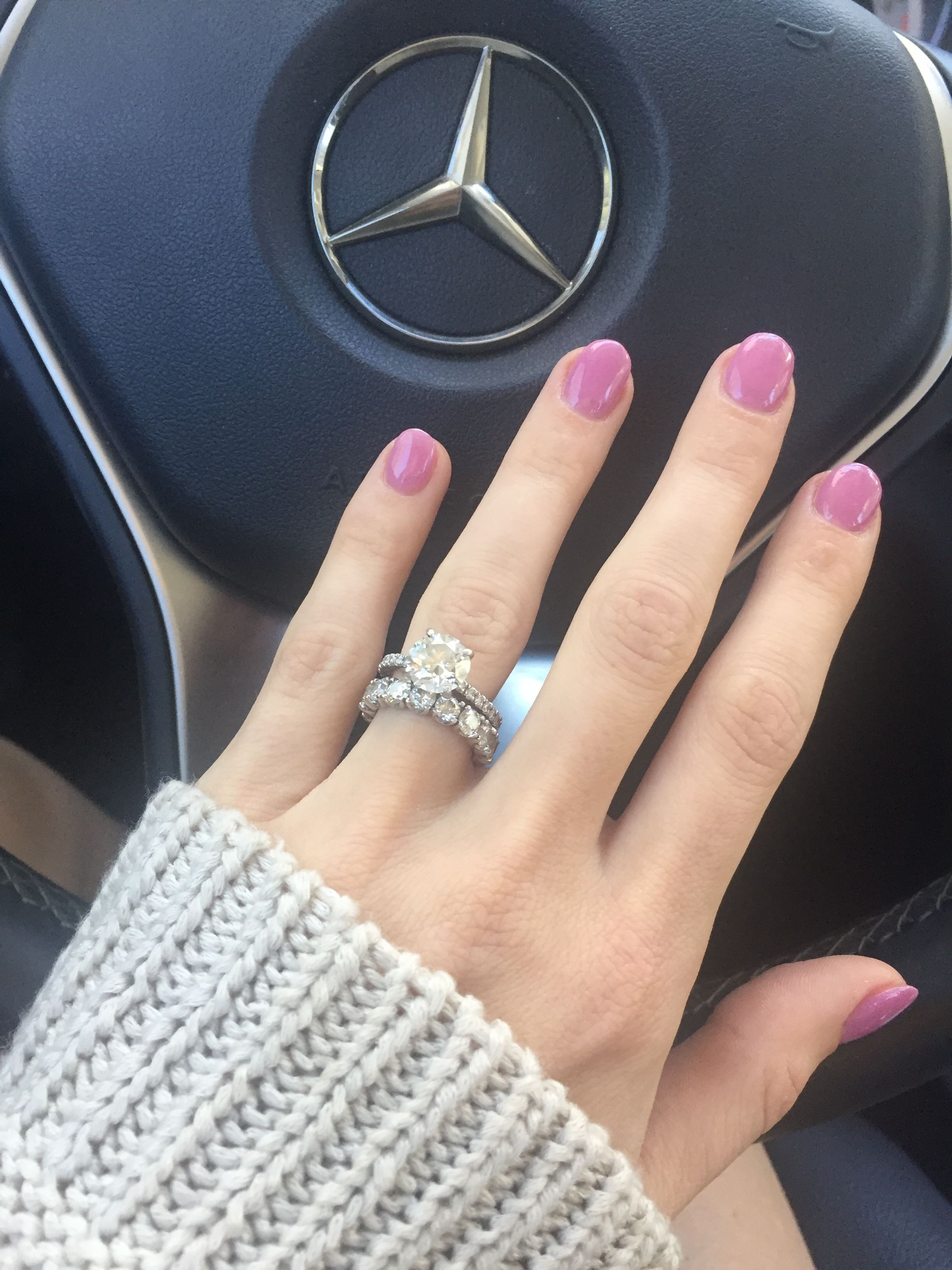 Engagement Ring Simple Brilliant Round 2 .19 Carat Solitaire With Regarding Most Recent Simple Infinity Band Rings (Gallery 11 of 25)