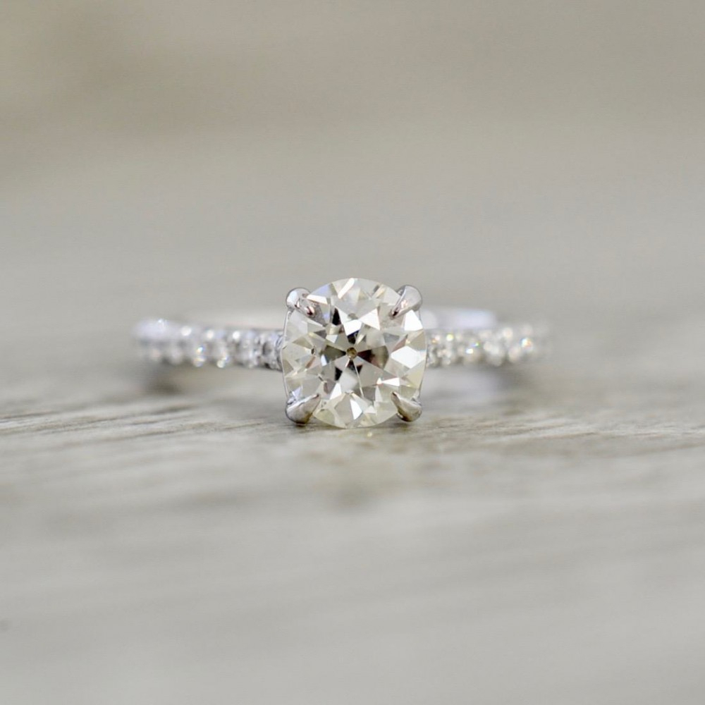 Engagement Rings With Side Stones Inside Recent Polished & Pavé Bead Open Rings (Gallery 20 of 25)