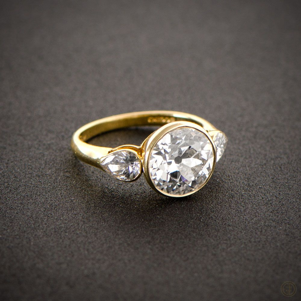 English Ring | Vintage Engagement Rings + Creative Within 2020 Diamond Accent Vintage Style Anniversary Bands In White Gold (Gallery 25 of 25)