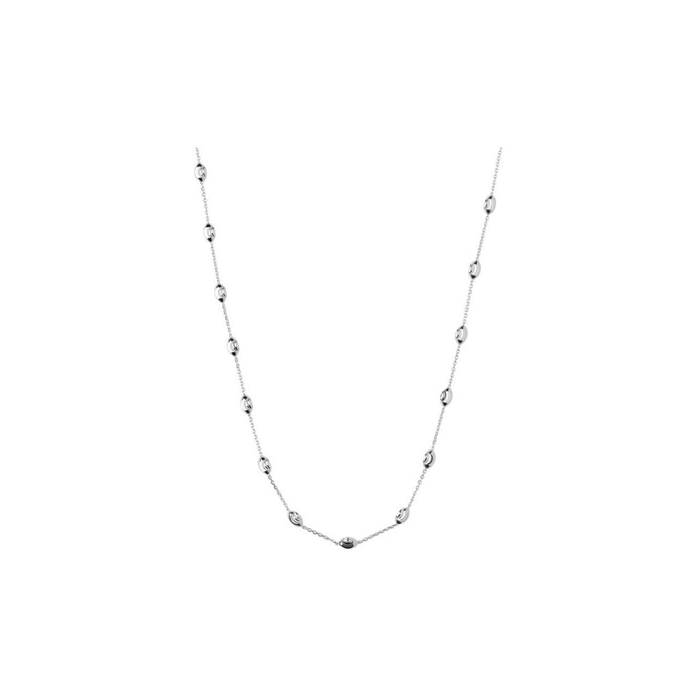 Essentials Sterling Silver Beaded Necklace With Most Popular Beaded Chain Necklaces (View 15 of 25)