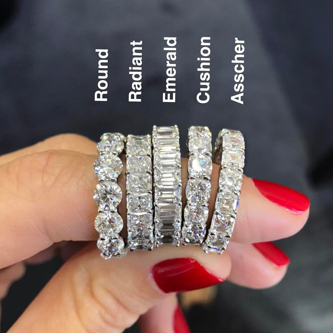 Eternity Bands In All Shapes, Which Is Your Fav?? Mine's Regarding Most Popular Princess Cut Diamond Criss Cross Anniversary Bands In White Gold (View 13 of 25)