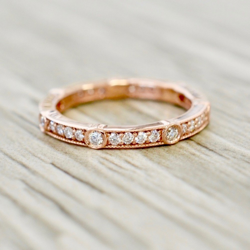 Eternity Bands Throughout Most Recently Released Diamond Channel Set Anniversary Bands In Rose Gold (View 14 of 25)