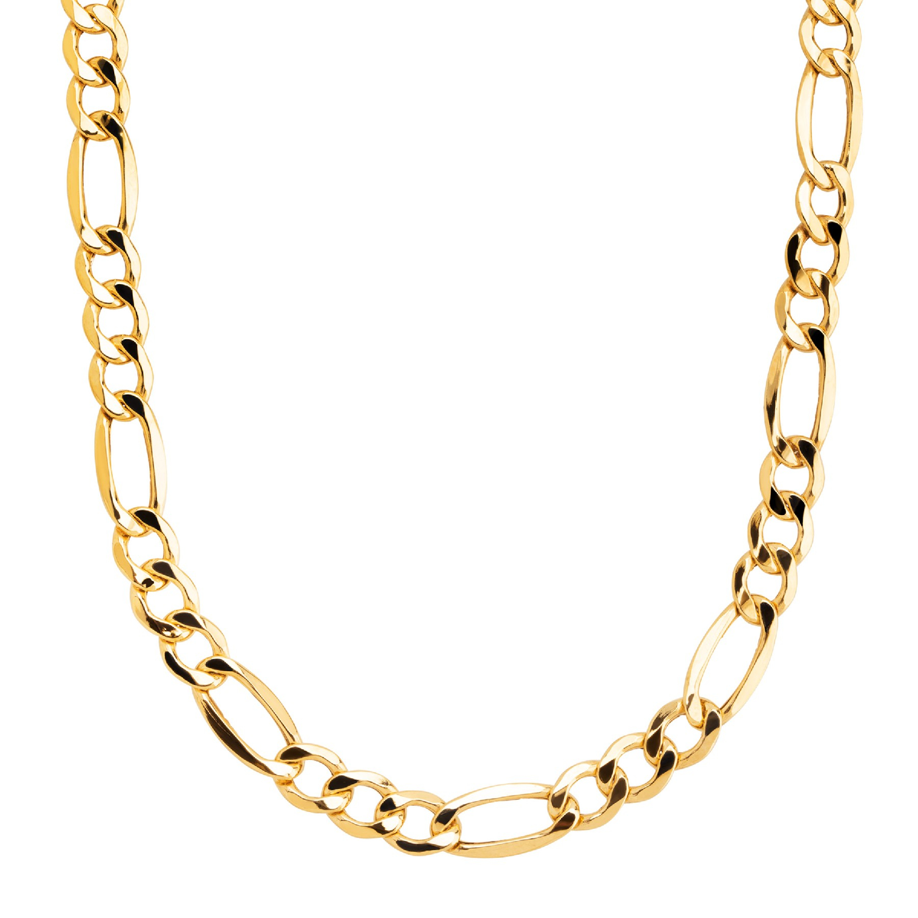 "Eternity Gold Men's Classic Figaro Chain Link Necklace In 10K Gold, 22"" For Latest Classic Figaro Chain Necklaces (View 15 of 25)"