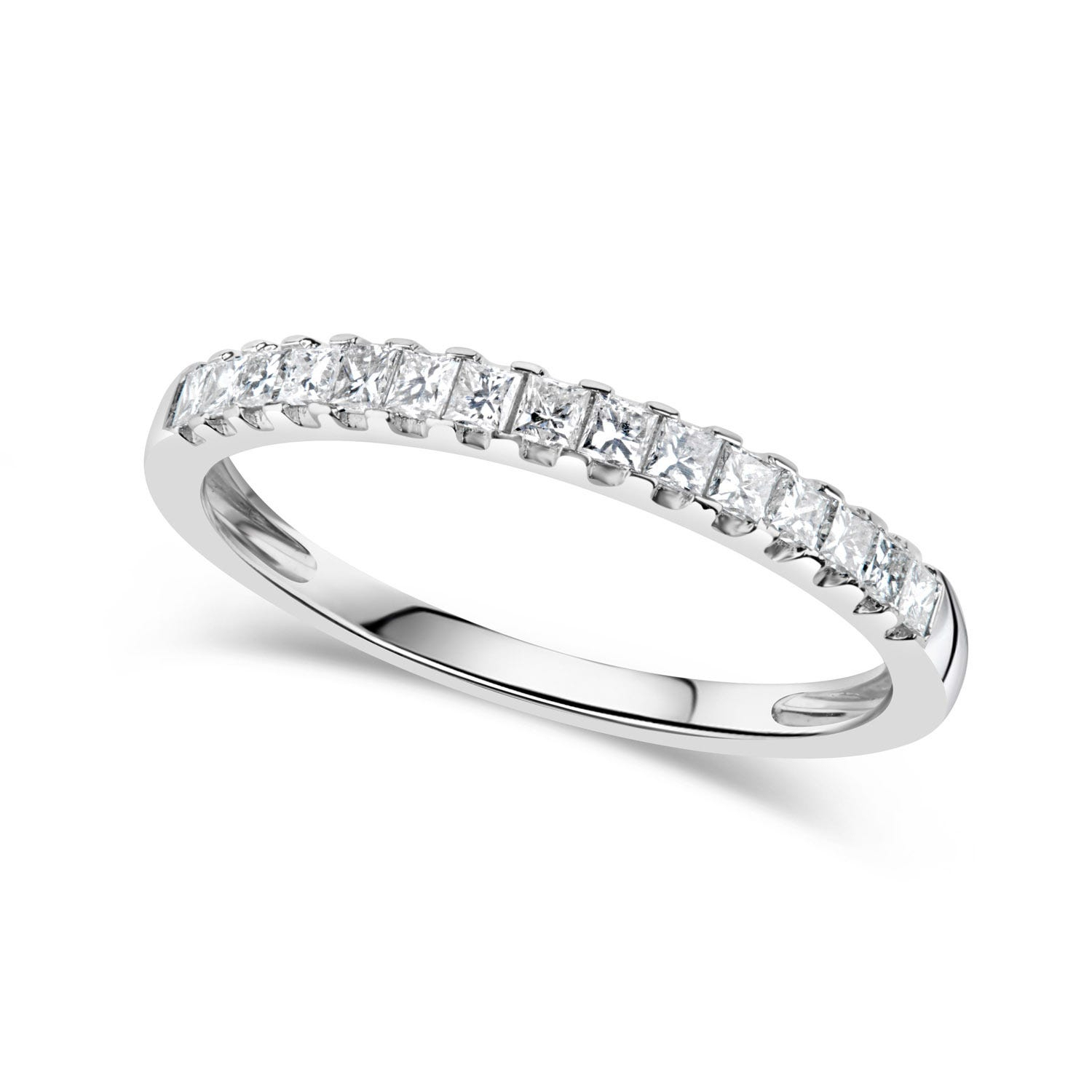Eternity Rings & Bands Within 2019 Diamond Three Row Tiered Anniversary Bands In White Gold (Gallery 25 of 25)