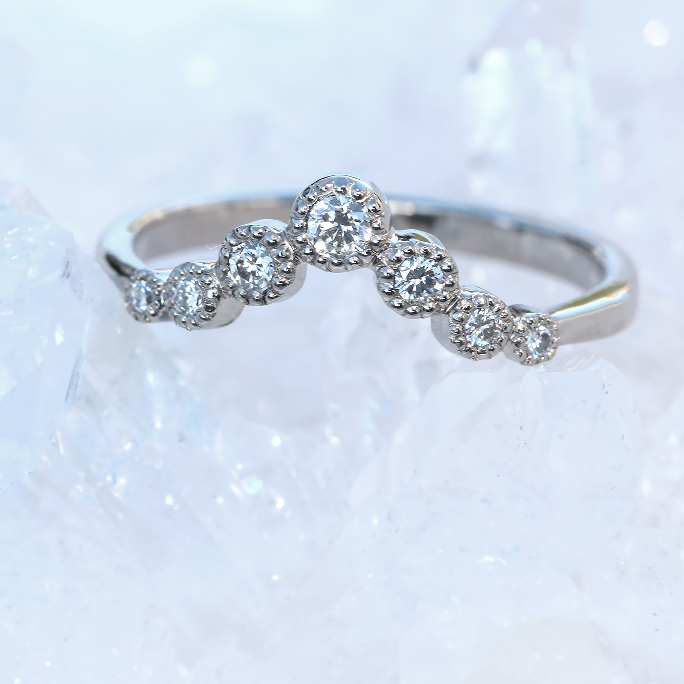 Ethical Diamond Wishbone Wedding Ring Throughout Most Current Polished Wishbone Rings (View 13 of 25)