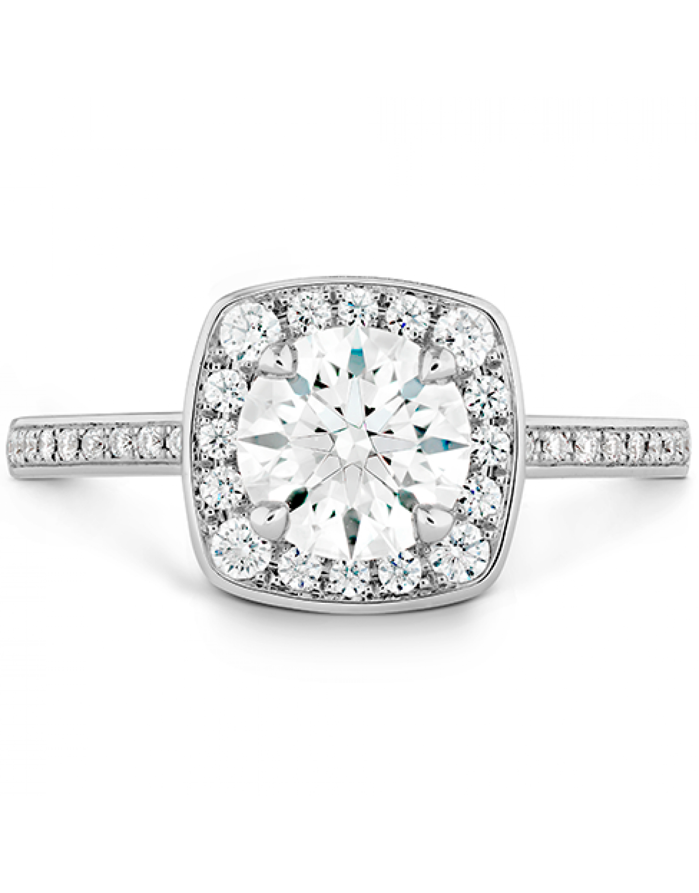 Euphoria Custom Halo Engagement Ring With 2017 Elegant Sparkle Rings (View 7 of 25)