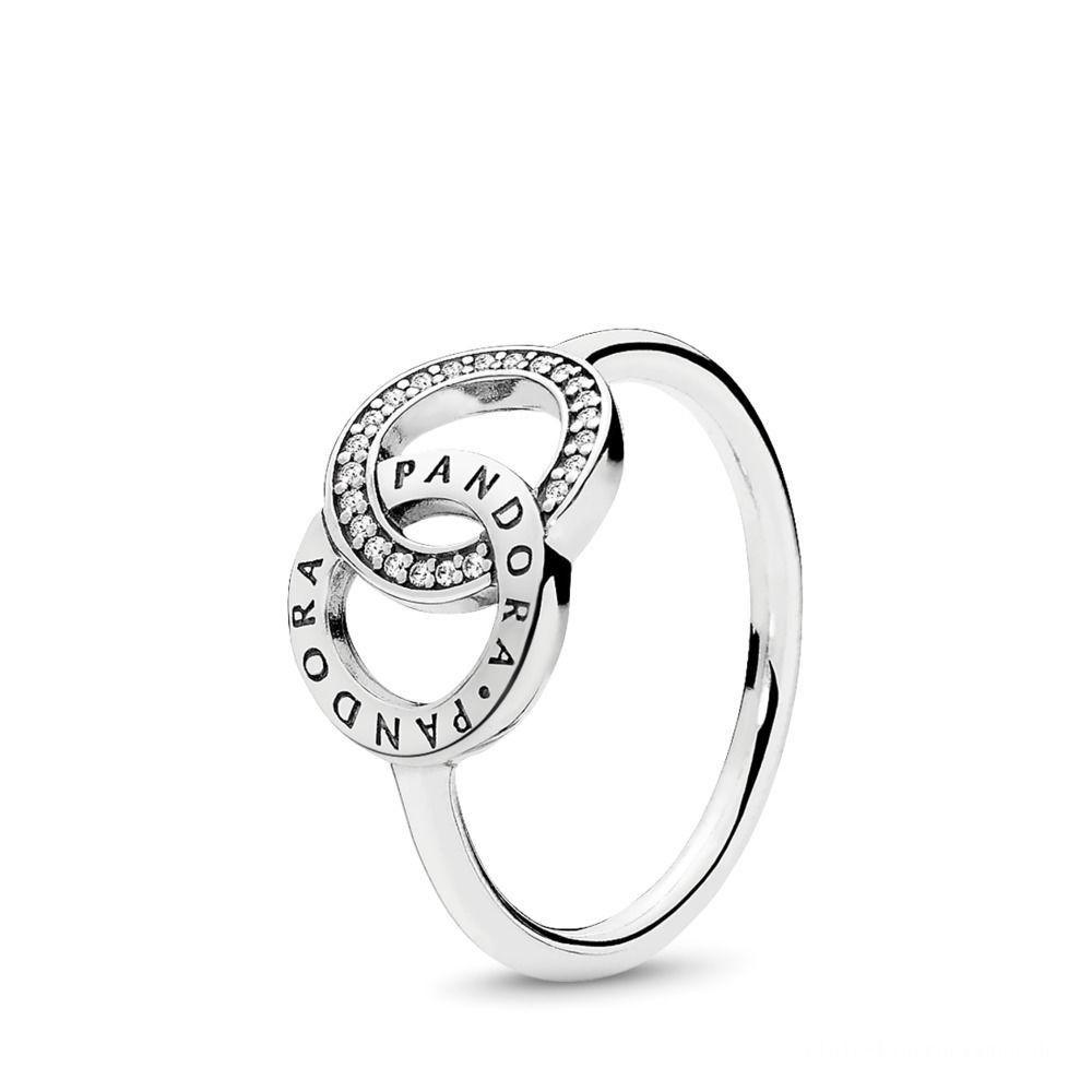 Exklusiver Verkauf Pandora Kreise Ring Sterling Silber, Cubic Zirkonia Within Newest Pandora Logo Pavé Rings (View 6 of 25)