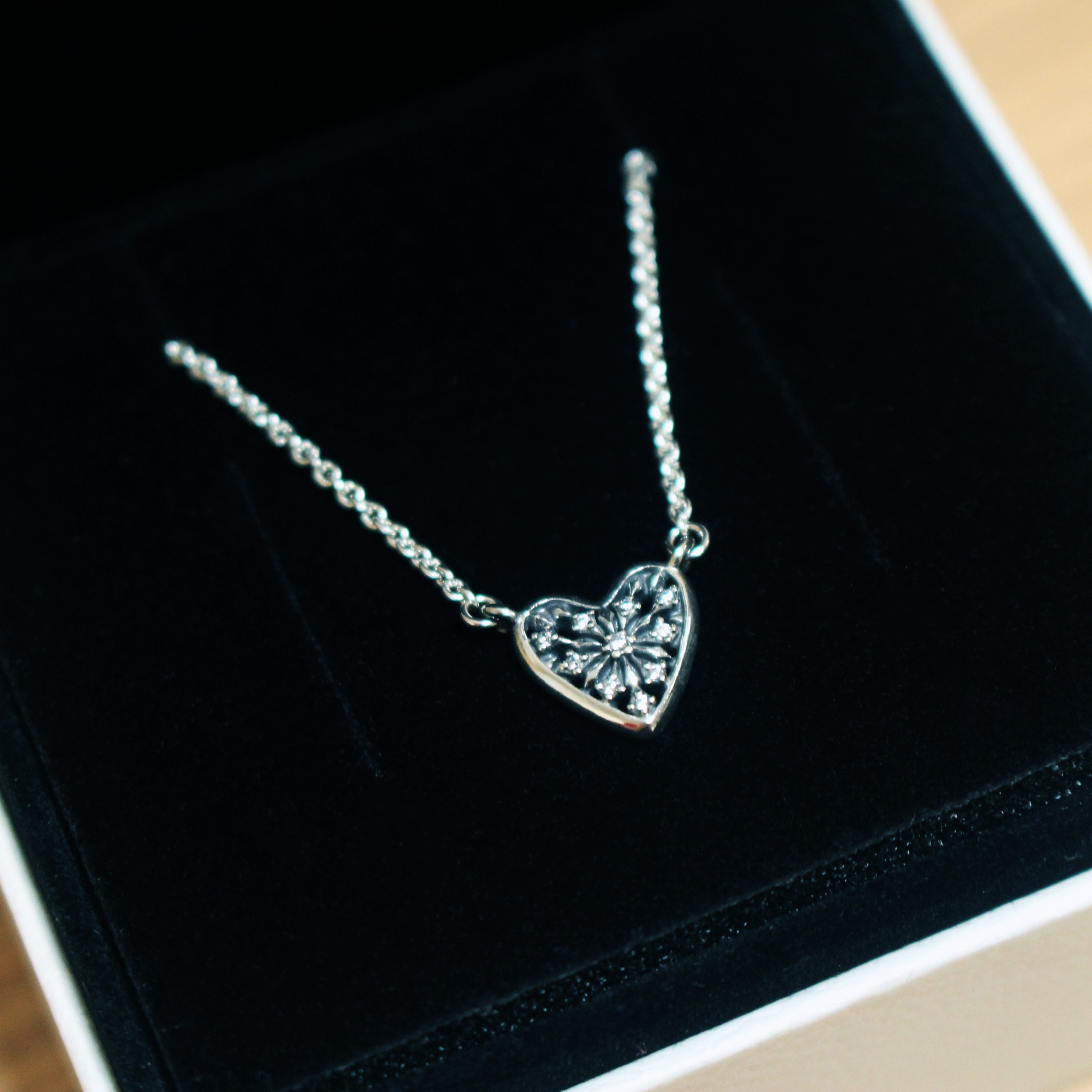 Featured Photo of Ice Crystal Heart Collier Necklaces