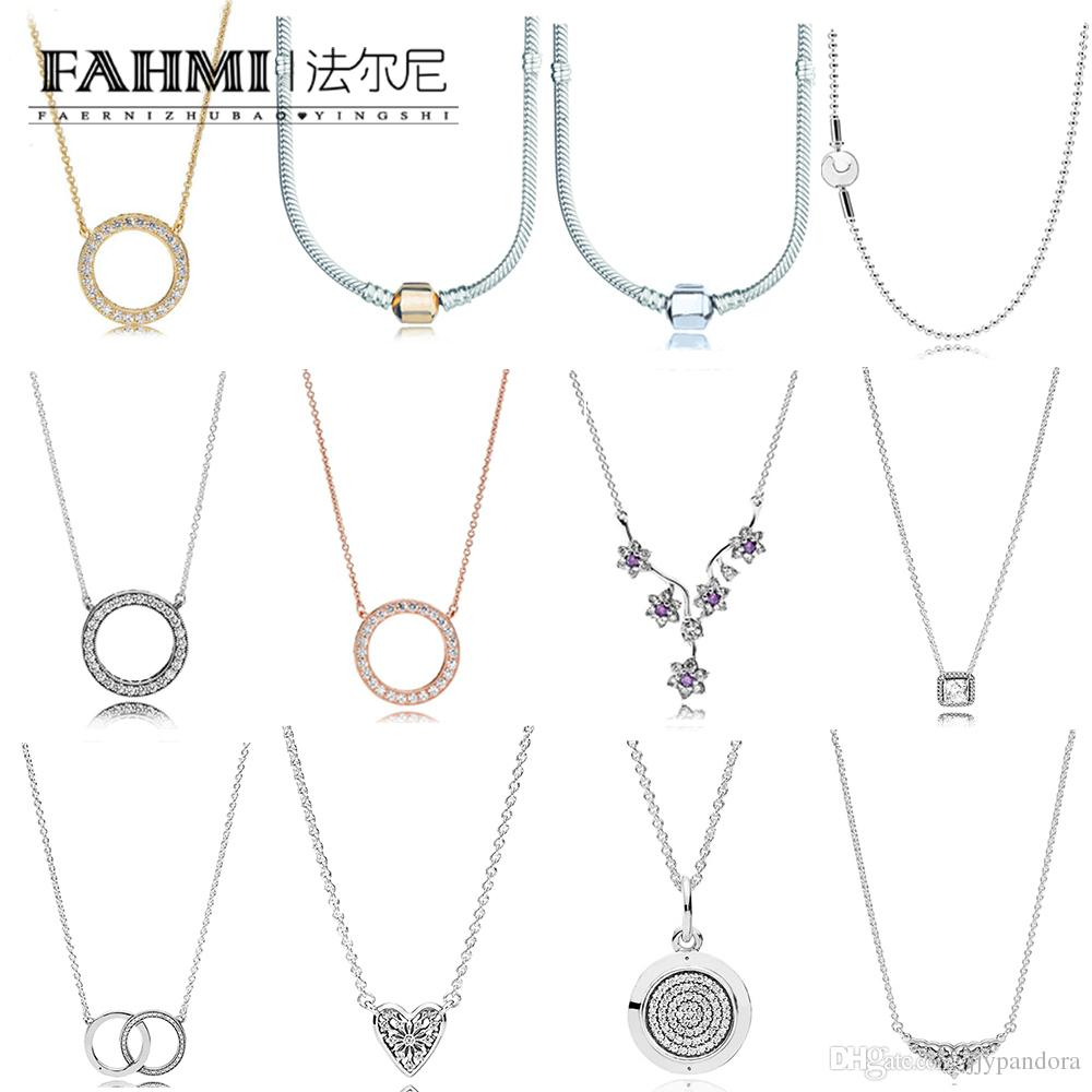 Fahmi 100% 925 Sterling Silver Charm Fairytale Tiara Necklace Timeless  Elegance Necklace Hearts Of Winter Collier Necklace Essence Pertaining To Newest Tiara Crown Collier Necklaces (View 12 of 25)