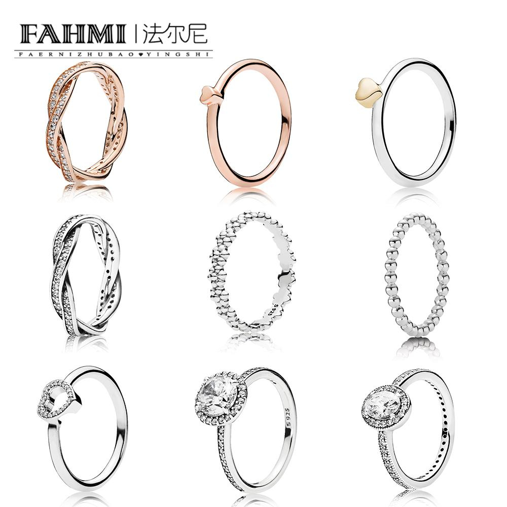 Fahmi 100% 925 Sterling Silver Rose Braided Pavé Ring Rose Puzzle Heart Ring Basic Bubble Silver Rings Love Eternal Braided Pavé Inside Most Up To Date Pavé Puzzle Heart Rings (View 1 of 25)