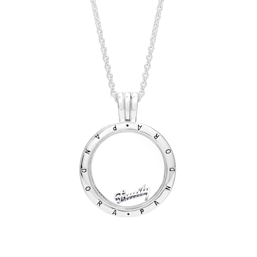 Family Script Petite Locket Charm 796295 Pertaining To Newest Love & Family Petite Locket Charms Necklaces (Gallery 10 of 25)