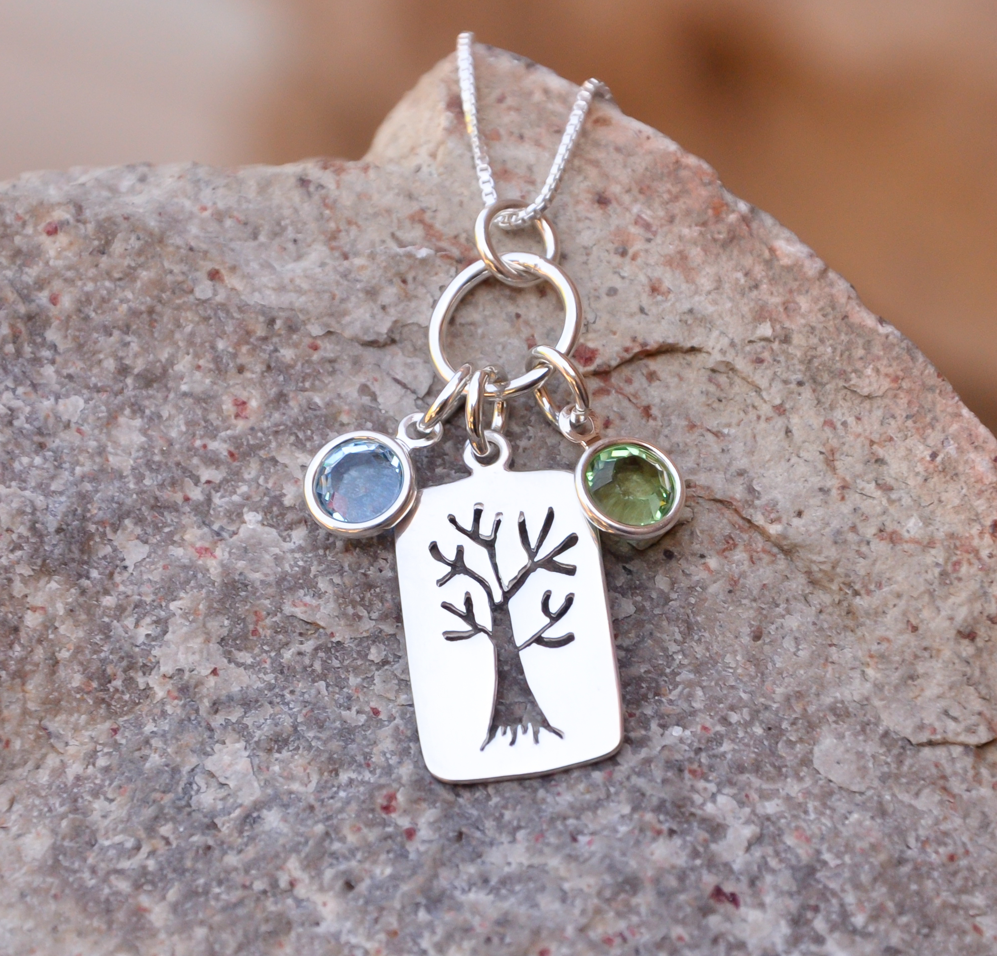 Family Tree Necklace With Regard To Most Recently Released Dangling Family Tree Rings (View 10 of 25)