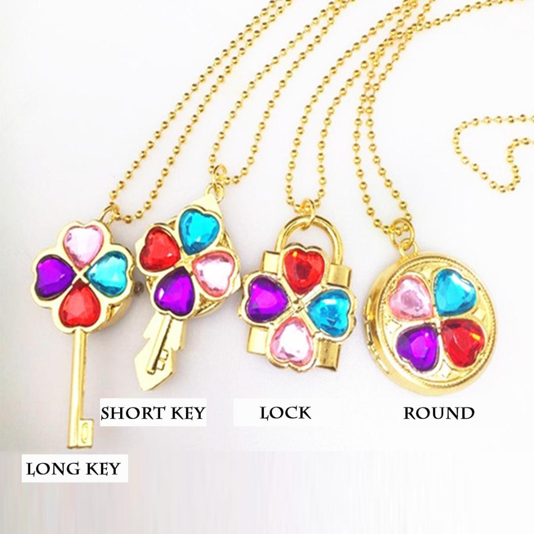 Fashion Flip Lucky Four Leaf Clover Watch Rotatable Pendant Cartoon Student Necklace Children Watch Hand Princess Dress Clock Throughout Recent Lucky Four Leaf Clover Locket Element Necklaces (Gallery 11 of 25)