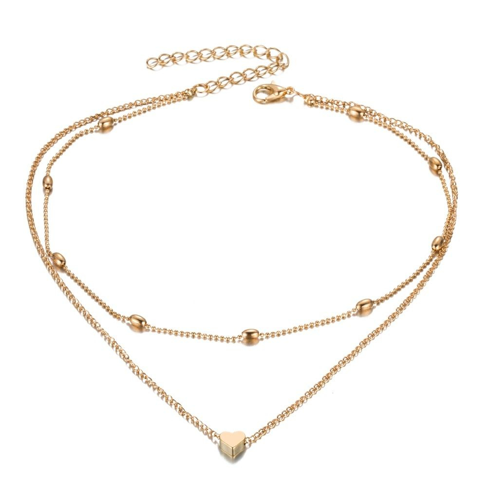 Fashion Gold Silver Color Jewelry Love Heart Necklaces & Pendants With Most Popular Heart Of Winter Necklaces (View 3 of 25)