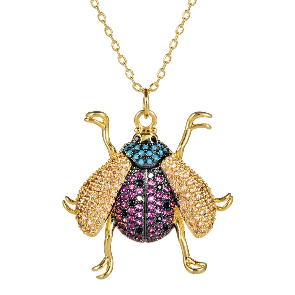 Fashion Honey Bee Animal Pendants Necklace Gold Yellow Color Sweater Chain  Choker For Women Party Wedding Jewelry Gifts Collier Throughout Current Bee Locket Element Necklaces (Gallery 24 of 25)