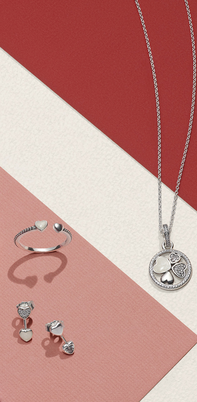 Featuring Four Different Dazzling Hearts On A Classic Anchor Chain With Most Up To Date Classic Anchor Chain Necklaces (View 12 of 25)