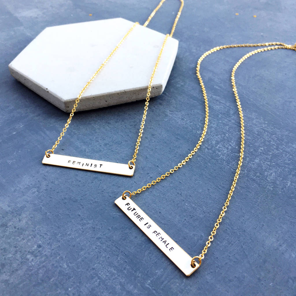 Feminist Empowerment Necklace In Best And Newest Female Empowerment Motto Pendant Necklaces (Gallery 23 of 25)