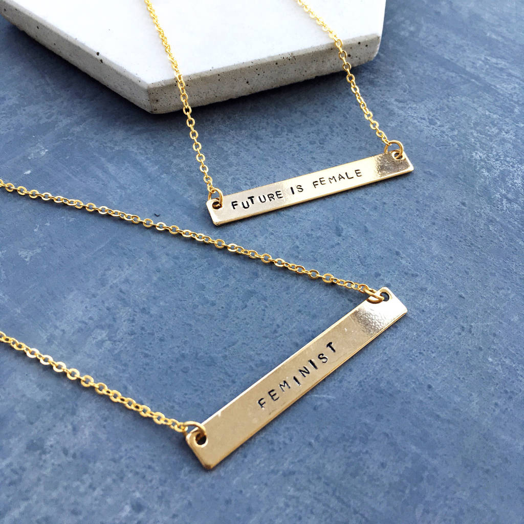 Feminist Empowerment Necklace With Latest Female Empowerment Motto Pendant Necklaces (View 16 of 25)