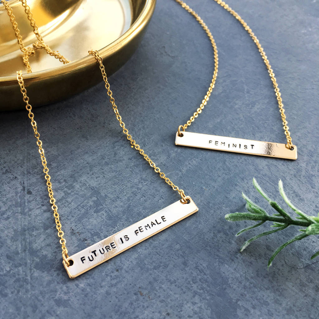 Feminist Empowerment Necklace With Regard To Most Recent Female Empowerment Motto Pendant Necklaces (View 14 of 25)