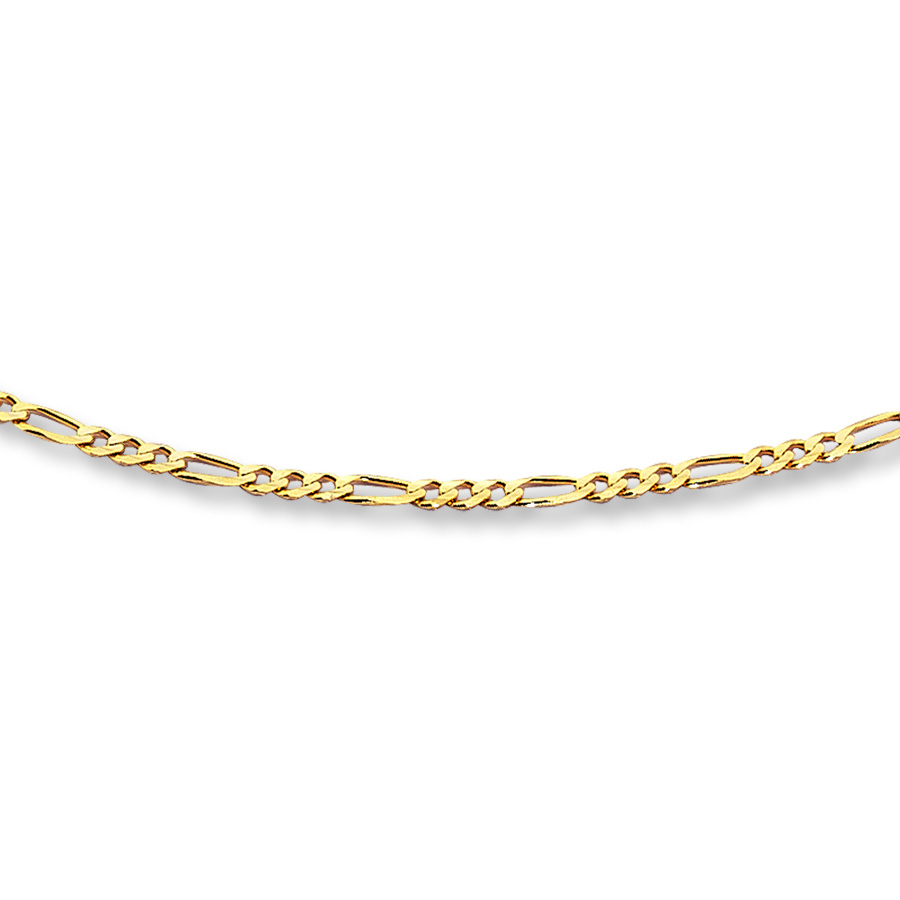 "Figaro Link Chain 14K Yellow Gold 20"" Length In 2019 Classic Figaro Chain Necklaces (Gallery 5 of 25)"