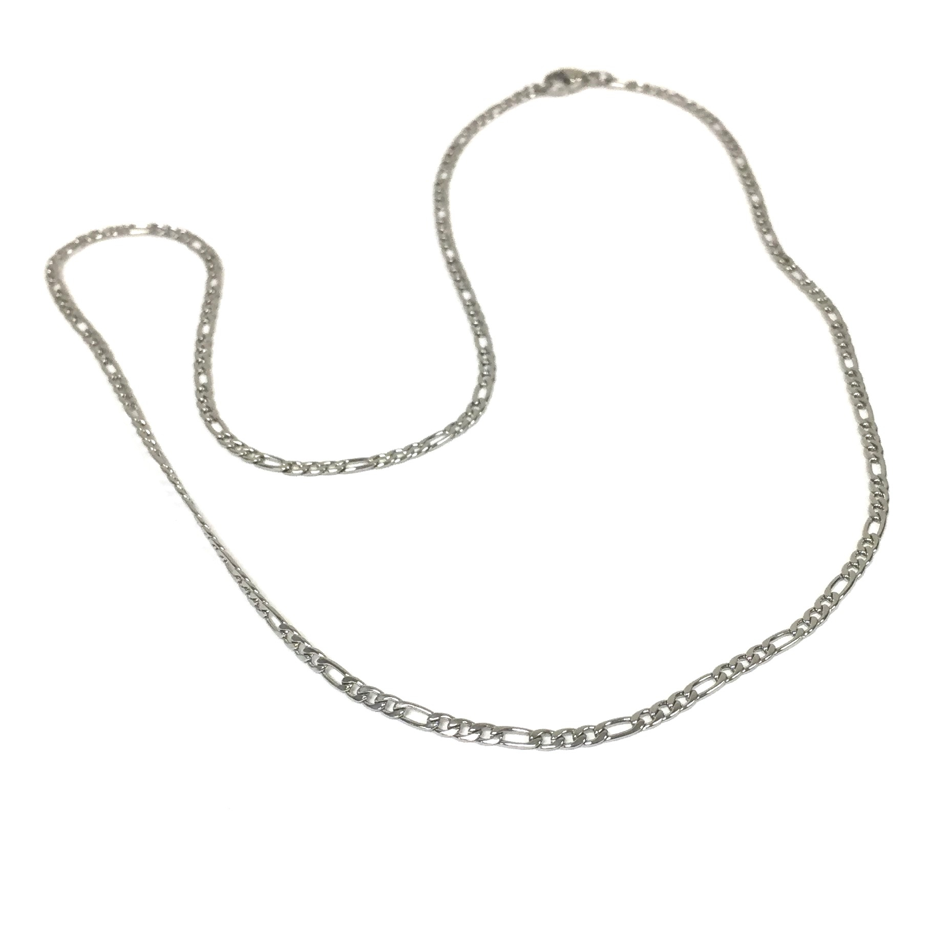 Figaro Stainless Steel Chain Necklace Regarding Newest Classic Figaro Chain Necklaces (Gallery 18 of 25)