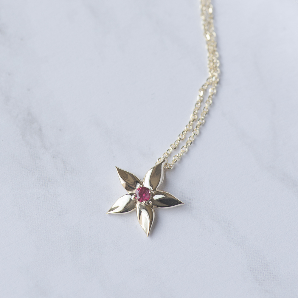 Find Deals On Pink Sapphire Pendants | Fascinating Diamonds Within Newest Sparkling Daisy Flower Locket Element Necklaces (View 15 of 25)
