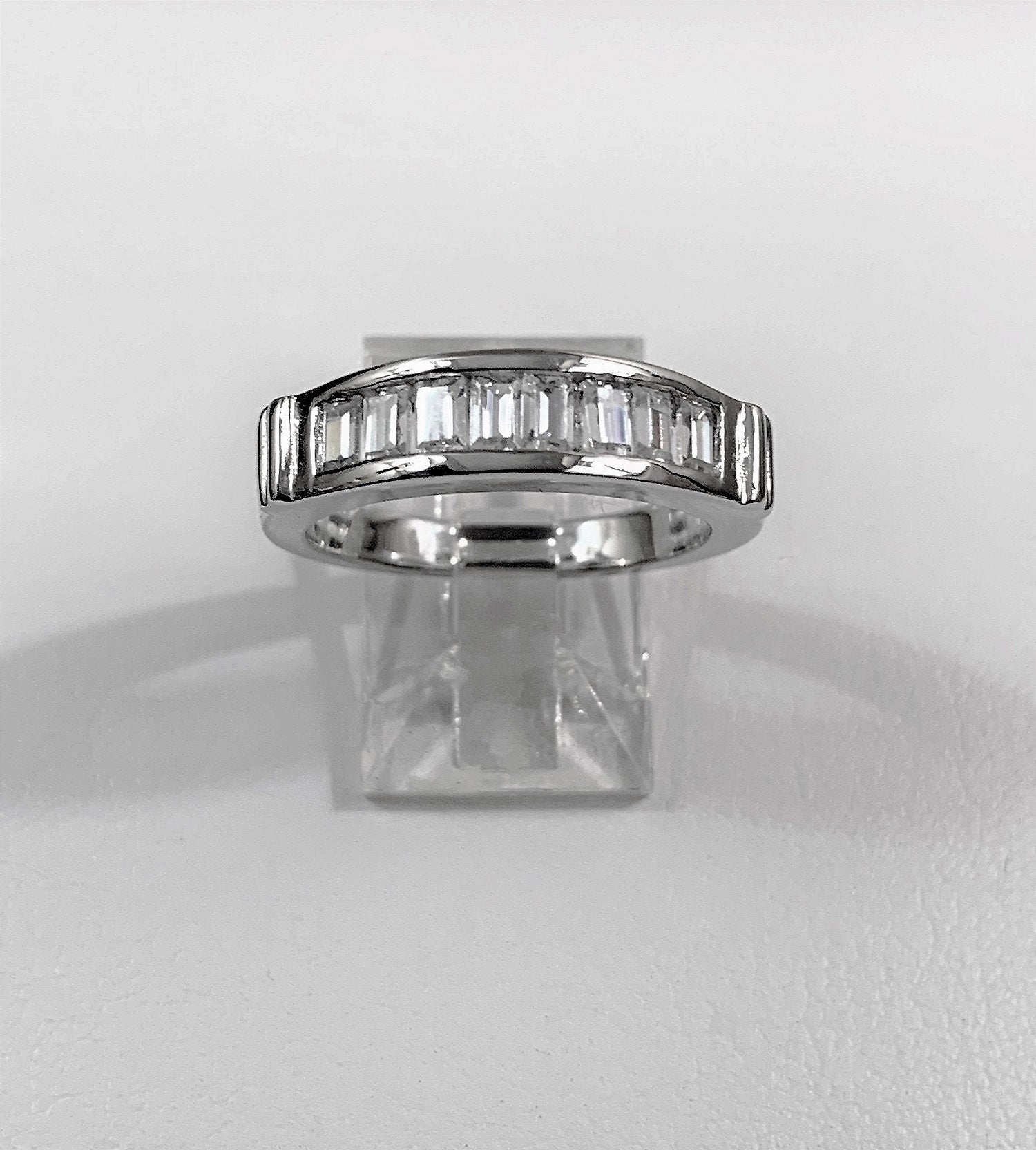 Five Stones Anniversary – Wedding Band, Sterling Silver With With Best And Newest Diamond Five Stone Anniversary Bands In Sterling Silver (Gallery 25 of 25)